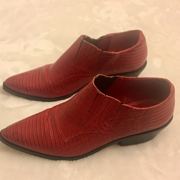 Clicks Shoes - Red Brazilian Leather Booties